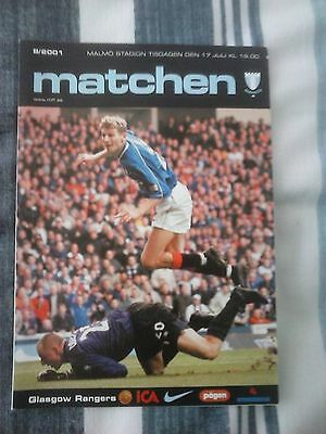Malmo v Rangers Friendly 2001