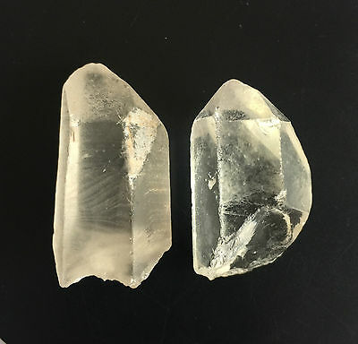 126 Ct Natural Rock Crystal Quartz Rough Points Raw Colorless White Gems Loose
