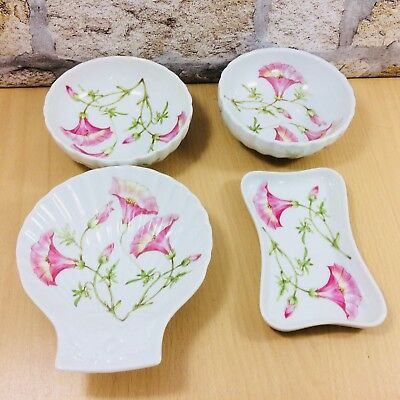 Set Of 4 Mixed Pillivuyt Snack / Serving Dishes Various Shapes Scallop