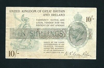 England Treasury (P358) 10 Shillings 1922 Fisher