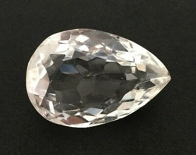 29.07 Ct Natural Crystal Quartz Pear Faceted Cut White Colorless Loose Gem 16X24