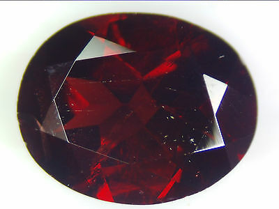 3.70 Ct Natural Dark Red Pyrope Garnet Loose Gemstone Oval Faceted Cut 11.0 X8.7
