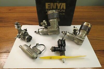 Four Glow Plug Model Aircraft Engines