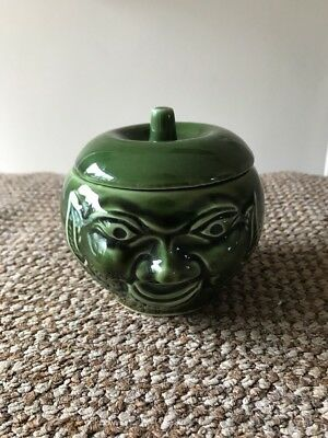 Vintage Bassware Face Pot Apple Sauce England