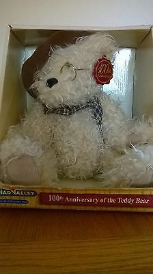 Chad Valley Limited Edition 100th Anniversary Bear with hat and glasses