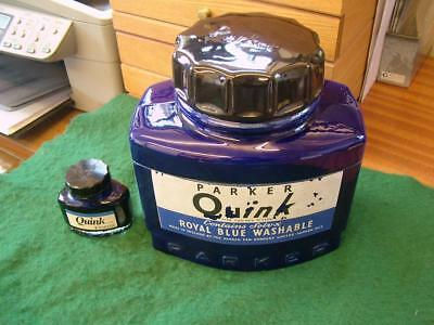 Huge Vintage Parker Ink Ceramic Advertising Jar (Hobbs Welch Designs)