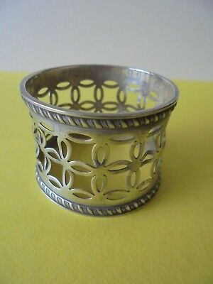 Antique Hallmarked  Sterling Silver Napkin Ring 1899 - 22 Grams