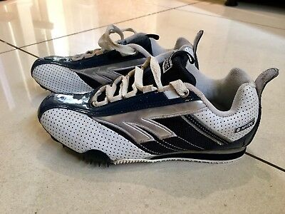 Children's Hi-Tec Athletic spikes Running Shoes Size 3 Navy / White