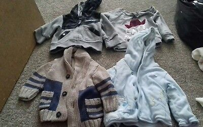Bundle Boys winter tops 0-3months