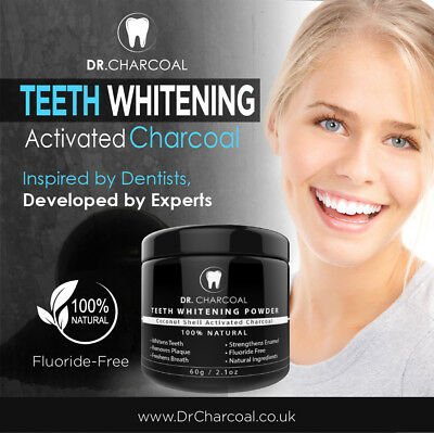Dr Charcoal Natural Organic Activated Charcoal Tooth Teeth Whitening Powder Mint
