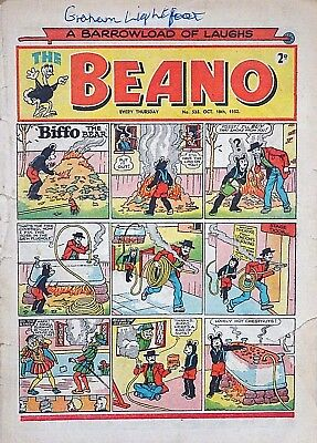 BEANO #535 - 18th OCTOBER 1952 (16 - 22 Oct) VERY SPECIAL 65th BIRTHDAY GIFT !!