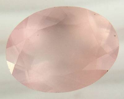 9.80 Ct Untreated Natural Rose Quartz Oval Faceted Cut Gem Loose Pink 16 X 12 Mm