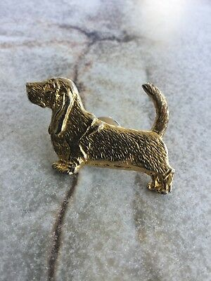 Gold Basset Hound Pin By C.Johnson. Great Detail!