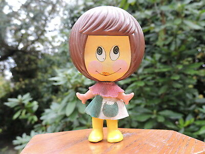 VINTAGE MATTEL 1971 TALK UP DOLL funny talk  WORKING VOICE CUTE SMALL RETRO TOY