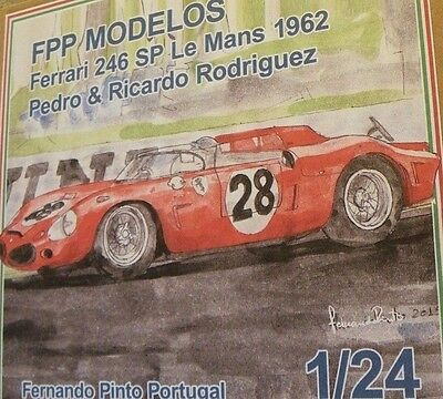 FERRARI DINO 246 SP Le Mans 1962 1/24 unassembled model kit Rodriguez