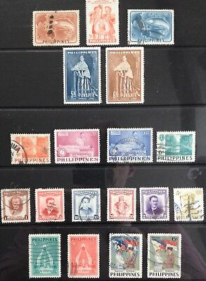 Philippines 1953 issues MLH & Used
