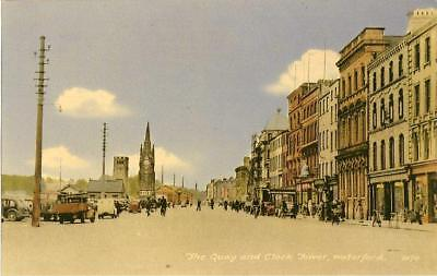 Printed Postcard Quay & Clock Tower Waterford County Waterford, Republic Ireland