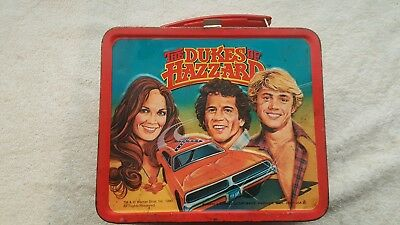 Vintage 1980 Dukes of Hazzard Metal Lunch Box by Aladdin - No Thermos