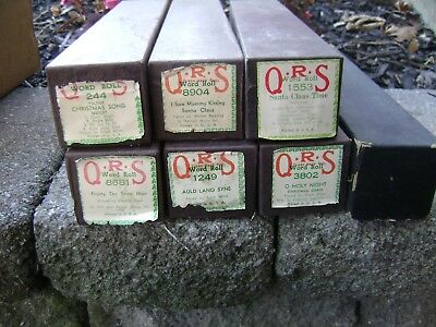 Lot of  QRS Piano Word Rolls Holiday Christmas  New Year Music  rudolph frosty