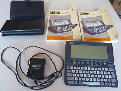 Psion organiser 3a series, with books and lead