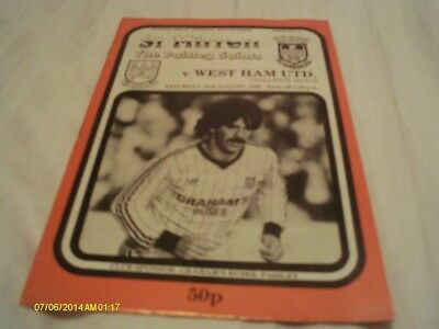 St Mirren V West Ham Utd Challenge Match 1986