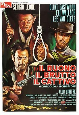 Good the Bad & the Ugly POSTER *ITALIAN* Clint Eastwood Sergio Leone WESTERN