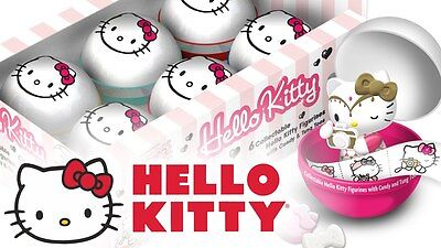 5 x Hello Kitty Surprise Capsule with Figurine, Candy & Tung Toos