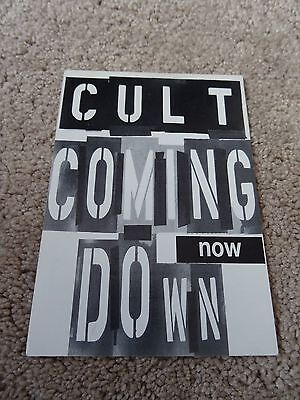 The Cult Coming Down Now Postcard