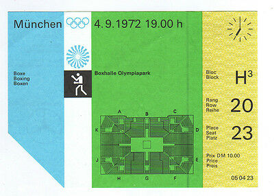 Orig.Ticket      XX.Olympic Games MÜNCHEN 1972  -  BOXING  /  04.09.1972  !!