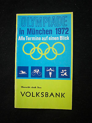 Orig.Complete PRG / Guide   Olympic Games MÜNCHEN 1972 // Germany Special Edt. !