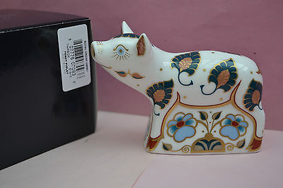 "Royal Crown Derby Paperweight ""PERCY"" The Piglet  1st Quality    SPECIAL OFFER"