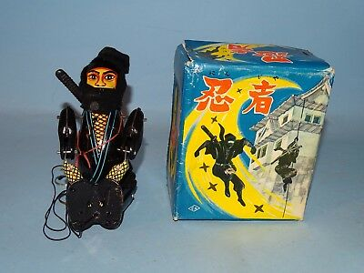 Ninja Warrior Tin Windup Toy Original Box Kuramochi Japan