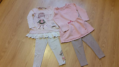 girls next bundle dress leggins outfit 4- 5 years
