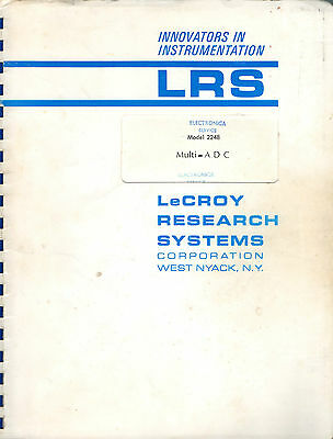 LeCROY - MODEL 2248 = MULTI ADC = TECHNICAL INFORMATION MANUAL