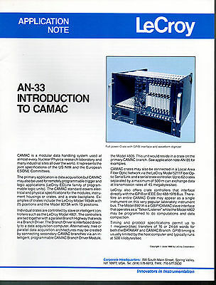 LeCROY - APPLICATION NOTE AN-33 = INTRODUCTION TO CAMAC