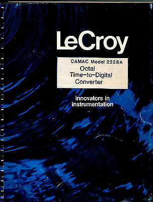 LeCROY - CAMAC MODEL 2228 = OCTAL TIME-TO-DIGITAL = TECHNICAL INFORMATION MANUAL