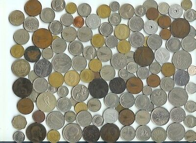 120 Mostly Foreign coins
