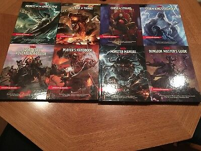 Dungeons and Dragons 5th Edition Book Lot D&D (8 Books total)