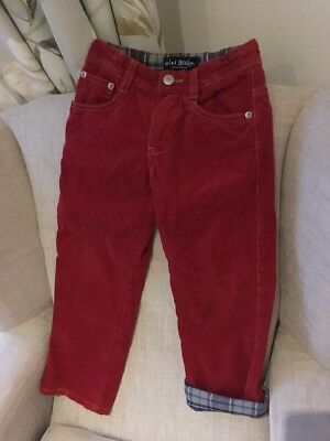 Boys Red/rust Boden Cords Age 5