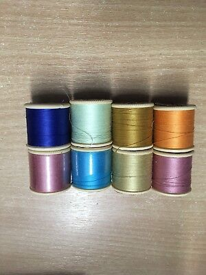 Vintage Cotton Reels Dewhurst Sylko Thread 8 Reels