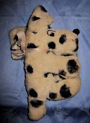 RARE Vintage Small Stuffed Toy Dalmatian Dog First Half Of 20th Century