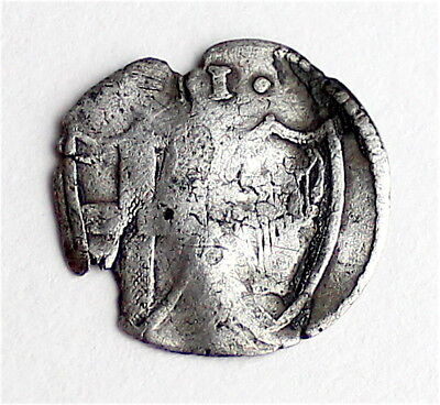 Hammered -1649-1660 AD - COMMONWEALTH - Silver Penny - Coin - 14 MM