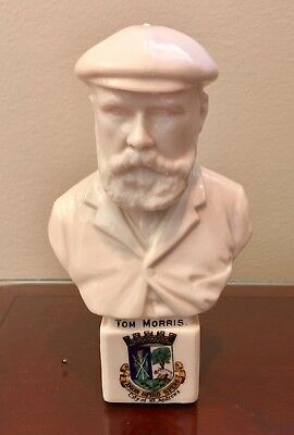 RARE OLD TOM MORRIS BUST St. ANDREWS by WILLOW ART CHINA c. 1895 FREE SHIPPING
