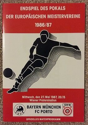 1987 European Cup Final - FC Porto v Bayern Munich Official Programme - Mint