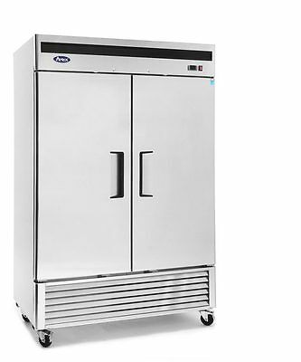 New 2 Door 49Cf Large Stainless Reach In Freezer W/ Casters Free Ship W Liftgate