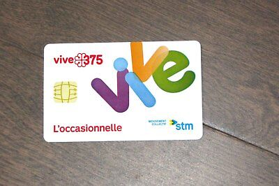Used Montreal 375 Ann. Special Ed Transit STM Metro Bus Ticket BIllet - No Value