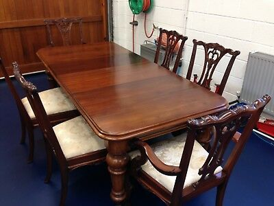 Victorian wind out extendable dining table & 6 Reproduction Chairs