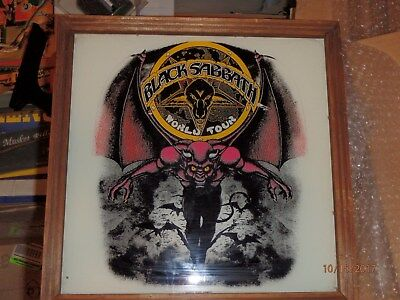 Black Sabbath Carnival Mirror 12 Inch World Tour 1982 RARE Vintage