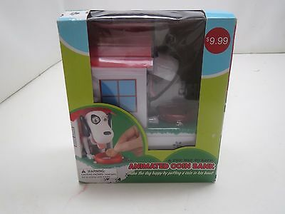 Animated Dog In Dog House Coin Bank / Piggy Bank - Great For Kids