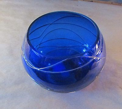 Partylite Glass Bowl---Made In Romania
